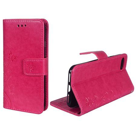 Schutz Hülle Blumen für Handy Apple iPhone 8 Pink