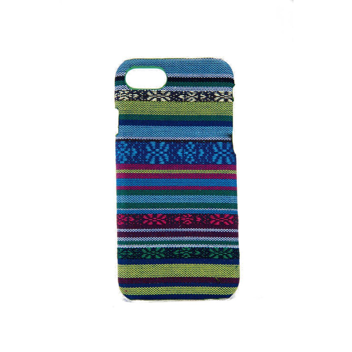 Handyhülle aus Stoff-Case für Apple iPhone 8 Cover Etuis Bumper Schale Blau