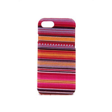 Handyhülle aus Stoff-Case für Apple iPhone 8 Cover Etuis Bumper Schale Bunt