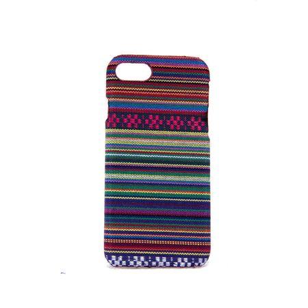 Handyhülle aus Stoff-Case für Apple iPhone 8 Cover Etuis Bumper Schale Violett