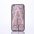 Handy Hülle Mandala für Apple iPhone 8 Design Case Schutzhülle Motiv Blume Cover Tasche Bumper Schwarz 001
