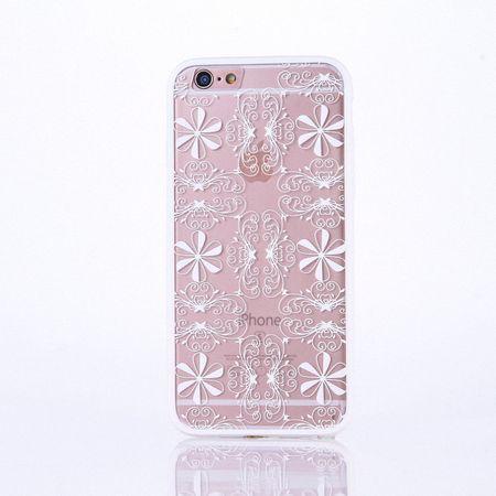 Handy Hülle Mandala für Apple iPhone 8 Design Case Schutzhülle Motiv Ornamente Cover Tasche Bumper Weiß