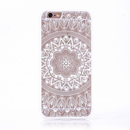 Handy Hülle Mandala für Apple iPhone 8 Design Case Schutzhülle Motiv Kreis Cover Tasche Bumper Weiß