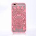 Handy Hülle Mandala für Apple iPhone 8 Design Case Schutzhülle Motiv Federn Totenkopf Cover Tasche Bumper Rosa 001