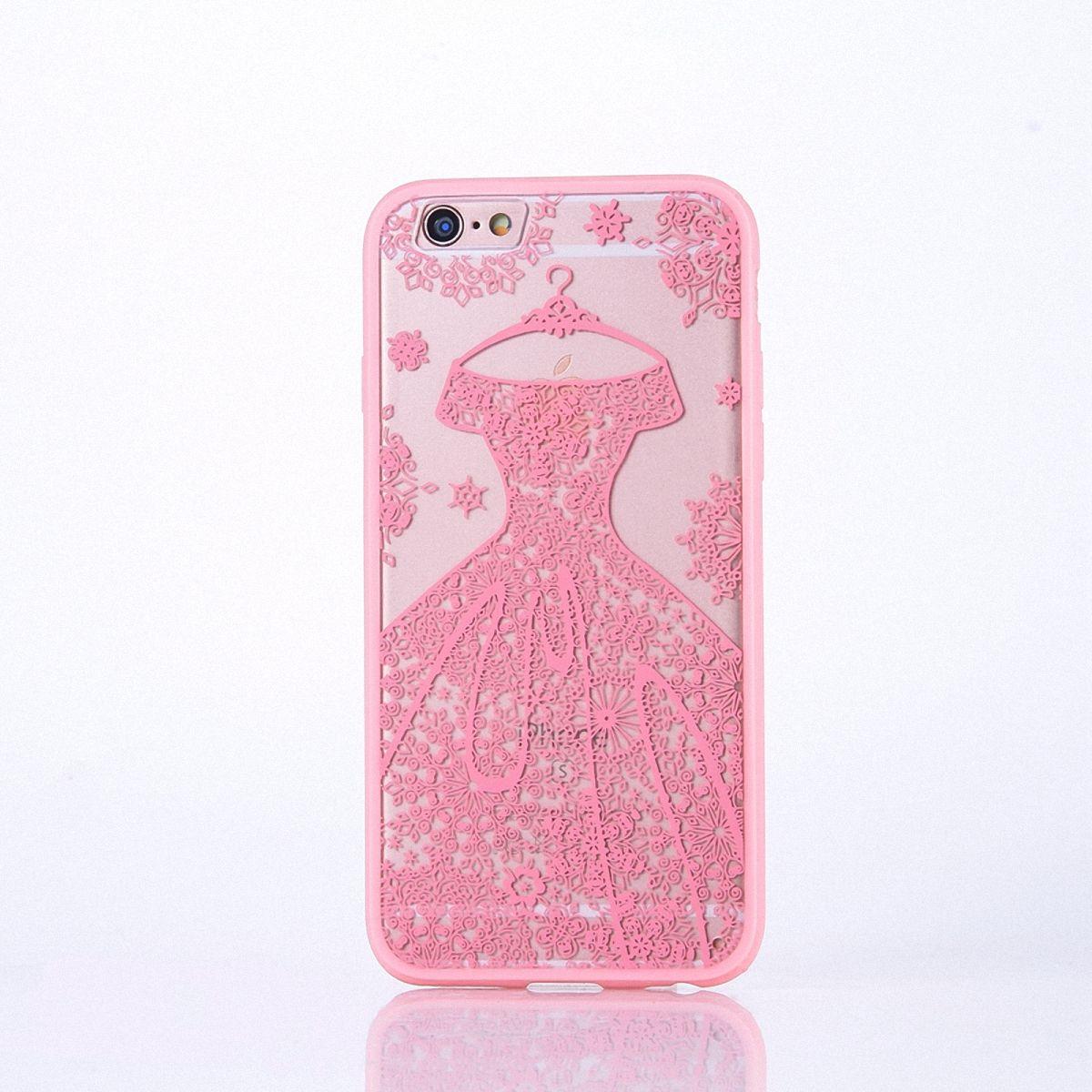 Handy Hülle Mandala für Apple iPhone 8 Design Case Schutzhülle Motiv Kleid Cover Tasche Bumper Rosa