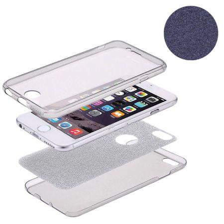 Crystal Case Hülle für Apple iPhone 8 Glitzer Case Schwarz Full Body