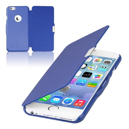 Flip Cover Schutzhülle Case Handyhülle Bookstyle für Apple iPhone 8 Blau