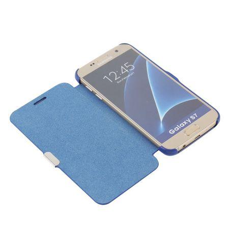 Flip Cover Schutzhülle Case Handyhülle Bookstyle für Apple iPhone 8 Blau – Bild 2