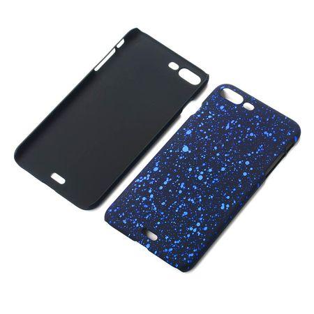 Handy Hülle Schutz Case Bumper Schale für Apple iPhone 8 Plus 3D Sterne Blau