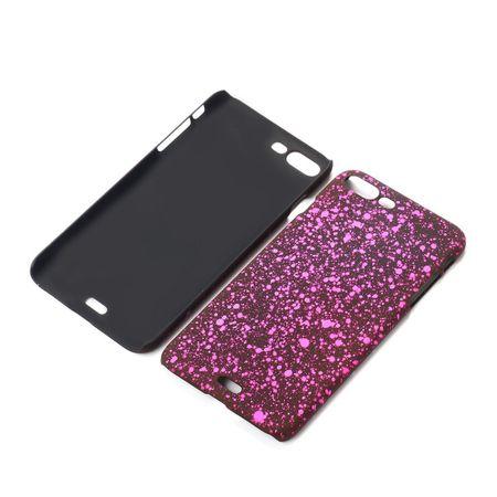 Handy Hülle Schutz Case Bumper Schale für Apple iPhone 8 Plus 3D Sterne Pink