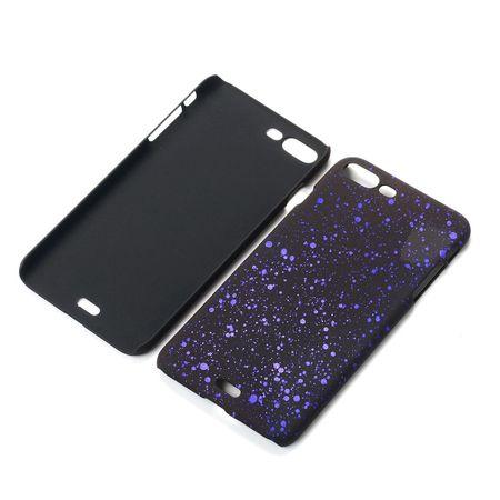 Handy Hülle Schutz Case Bumper Schale für Apple iPhone 8 Plus 3D Sterne Lila