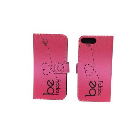 Handyhülle Tasche für Handy Apple iPhone 8 Plus Be Happy Pink – Bild 2