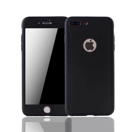 Apple iPhone 8 Plus Handy-Hülle Schutz-Case Cover Panzer Schutz Glas Schwarz