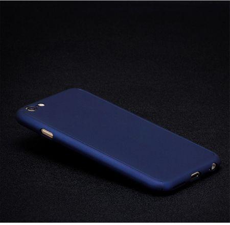 Apple iPhone 8 Plus Handy-Hülle Schutz-Case Full-Cover Panzer Schutz Glas Blau – Bild 2