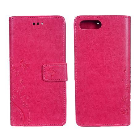 Schutz Hülle Blumen für Handy Apple iPhone 8 Plus Pink – Bild 3