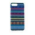 Handyhülle aus Stoff-Case für Apple iPhone 8 Plus Cover Etuis Bumper Schale Blau 001