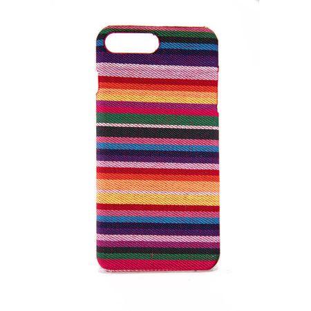 Handyhülle aus Stoff-Case für Apple iPhone 8 Plus Cover Etuis Bumper Schale Bunt