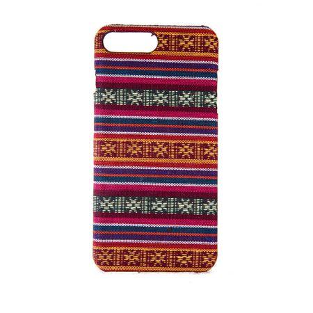 Handyhülle aus Stoff-Case für Apple iPhone 8 Plus Cover Etuis Bumper Schale Pink