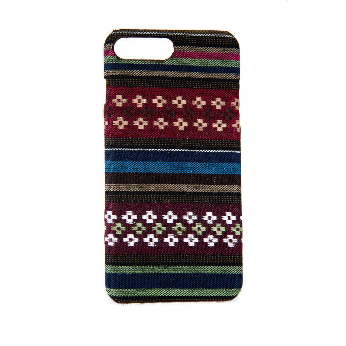 Handyhülle aus Stoff-Case für Apple iPhone 8 Plus Cover Etui Bumper Schale Braun