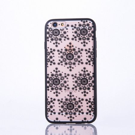 Handy Hülle Mandala für Apple iPhone 8 Plus Design Case Schutzhülle Motiv Flocken Cover Tasche Bumper Schwarz
