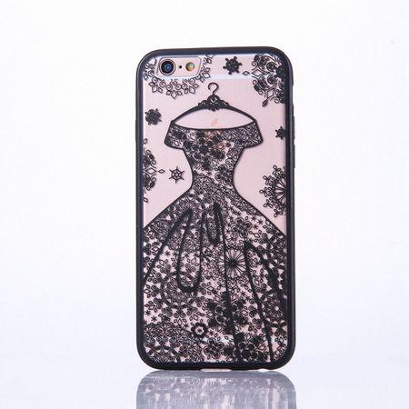 Handy Hülle Mandala für Apple iPhone 8 Plus Design Case Schutzhülle Motiv Kleid Cover Tasche Bumper Schwarz