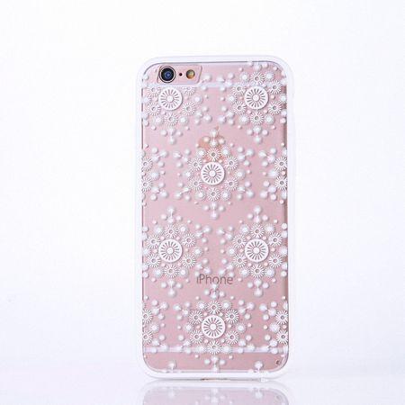 Handy Hülle Mandala für Apple iPhone 8 Plus Design Case Schutzhülle Motiv Flocken Cover Tasche Bumper Weiß