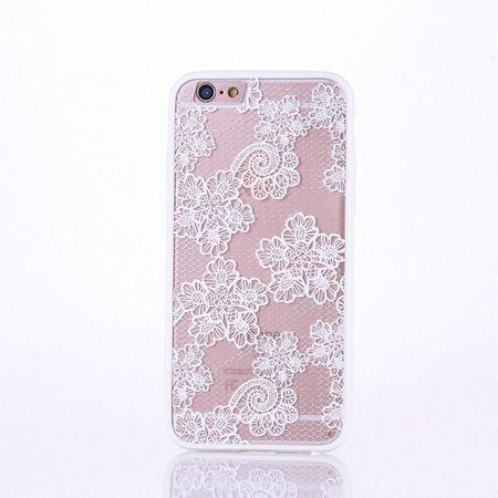 Handy Hülle Mandala für Apple iPhone 8 Plus Design Case Schutzhülle Motiv Blüten Cover Tasche Bumper Weiß