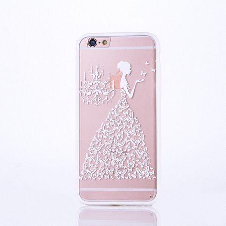 Handy Hülle Mandala für Apple iPhone 8 Plus Design Case Schutzhülle Motiv Schmetterling Frau Cover Tasche Bumper Weiß