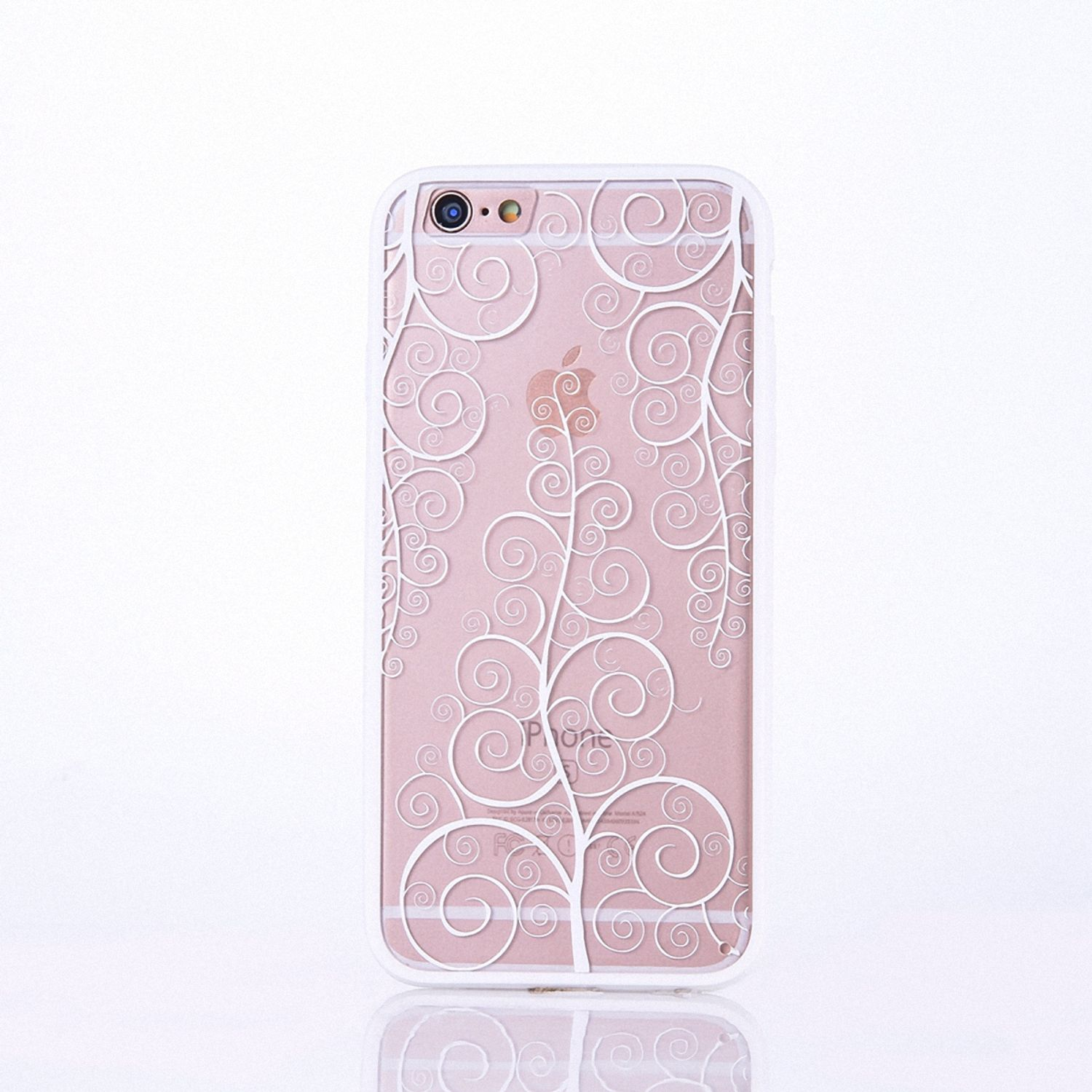 Handy Hülle Mandala für Apple iPhone 8 Plus Design Case Schutzhülle Motiv Blume Cover Tasche Bumper Weiß