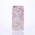 Handy Hülle Mandala für Apple iPhone 8 Plus Design Case Schutzhülle Motiv Kleid Cover Tasche Bumper Weiß 001