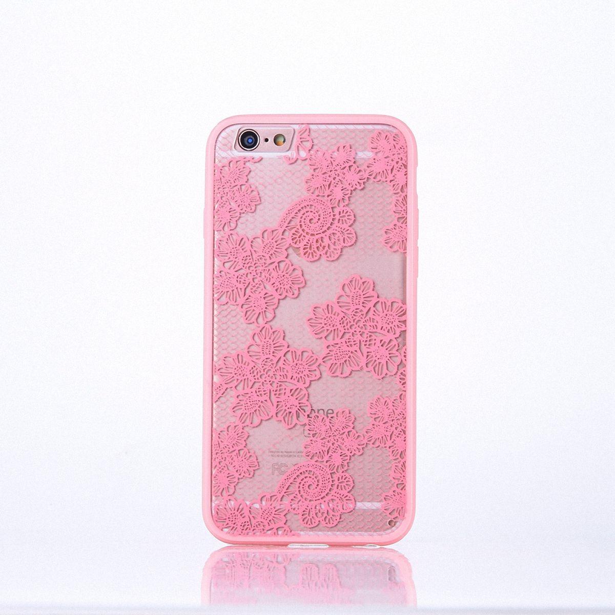 Handy Hülle Mandala für Apple iPhone 8 Plus Design Case Schutzhülle Motiv Blüten Cover Tasche Bumper Rosa