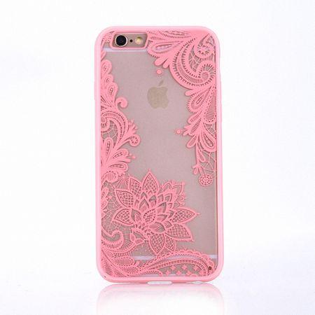 Handy Hülle Mandala für Apple iPhone 8 Plus Design Case Schutzhülle Motiv Blüte Cover Tasche Bumper Rosa