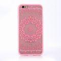 Handy Hülle Mandala für Apple iPhone 8 Plus Design Case Schutzhülle Motiv Kreis Cover Tasche Bumper Rosa 001