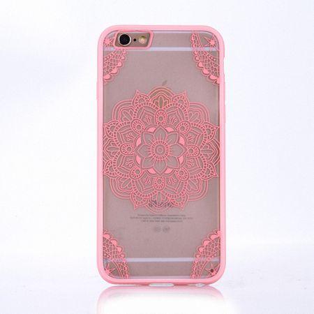 Handy Hülle Mandala für Apple iPhone 8 Plus Design Case Schutzhülle Motiv Indianische Spitze Cover Tasche Bumper Rosa