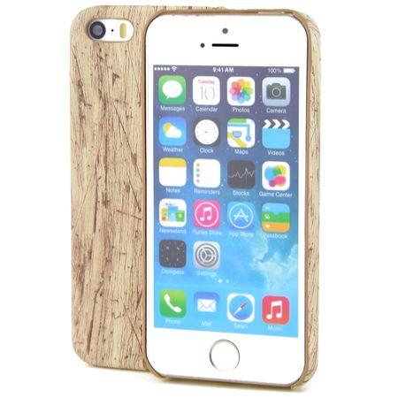 Apple iPhone 8 Plus TPU Handy Hülle Holz Optik Schutz Case Vintage Cover