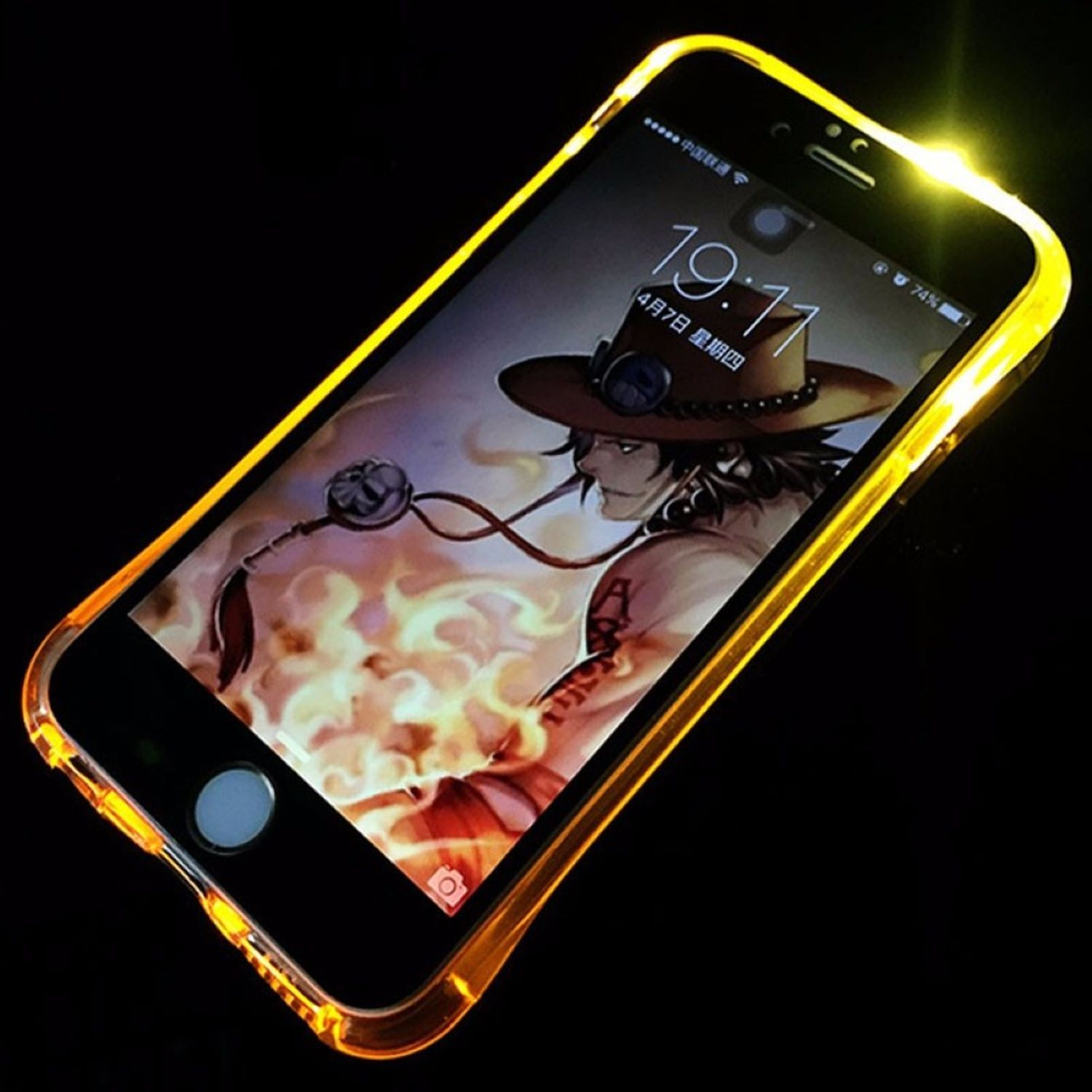 buy popular 61639 52f63 Details about Case LED Light Call for Mobile Phone Apple IPHONE 8 plus Gold  Case Bumper