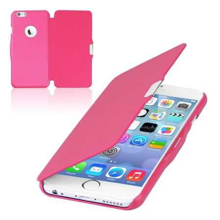 Flip Cover Schutzhülle Case Handyhülle Bookstyle für Apple iPhone 8 Plus Pink