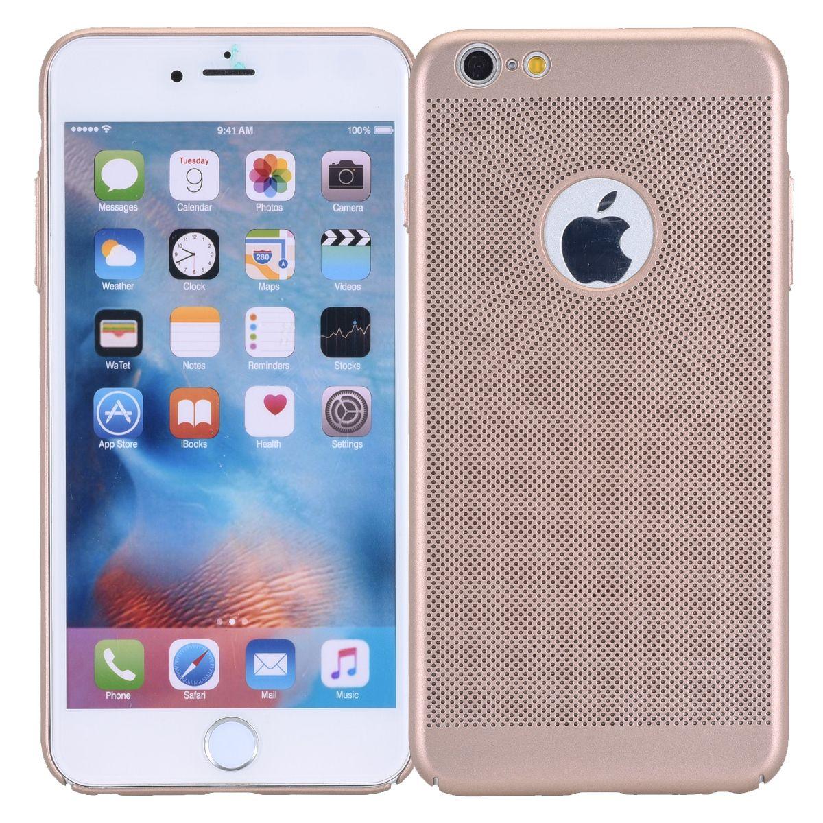 Handy Hülle für Apple iPhone 8 Plus Schutzhülle Case Tasche Cover Etui Gold