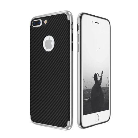 Hybrid Silikon Handy Hülle für Apple iPhone 8 Plus Case Cover Tasche Silber