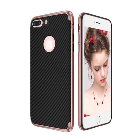 Hybrid Silikon Handy Hülle für Apple iPhone 8 Plus Case Cover Tasche Pink