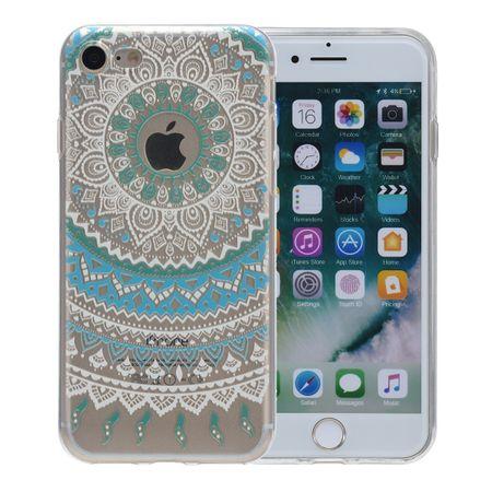 Henna Cover für Apple iPhone 8 Case Schutz Hülle Silikon Sonne Blau