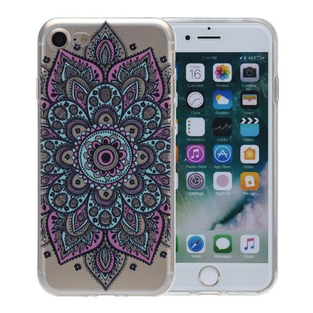 Henna Cover für Apple iPhone 8 Case Schutz Hülle Silikon Tattoo Bunt