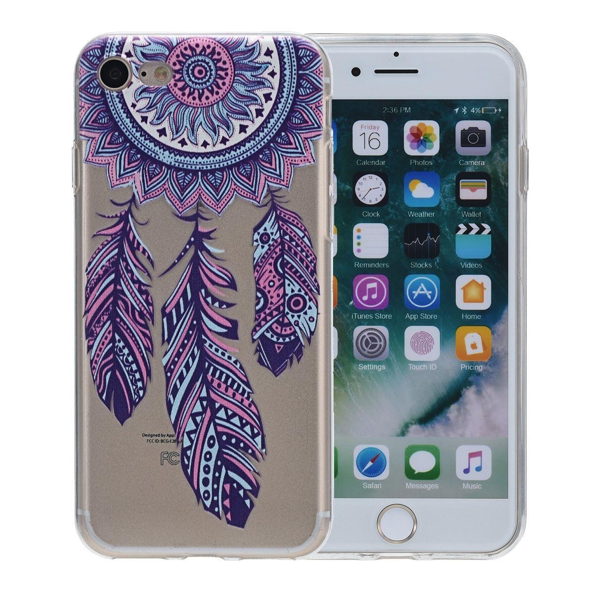 Henna Cover für Apple iPhone 8 Plus Case Schutz Hülle Silikon Traumfänger