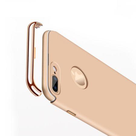 Handy Hülle Schutz Case für Apple iPhone 8 Plus Bumper 3 in 1 Cover Rose Gold – Bild 4