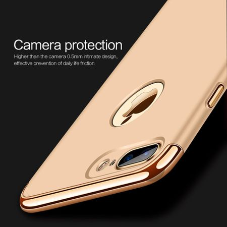 Handy Hülle Schutz Case für Apple iPhone 8 Plus Bumper 3 in 1 Cover Rose Gold – Bild 5