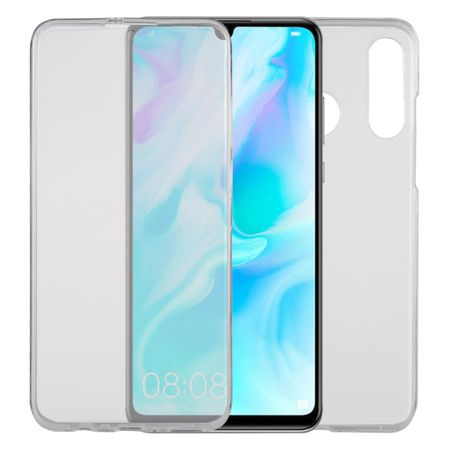 Huawei P30 lite New Edition Hülle Case 360 Handy Schutz Tasche Cover Full TPU Etui Transparent