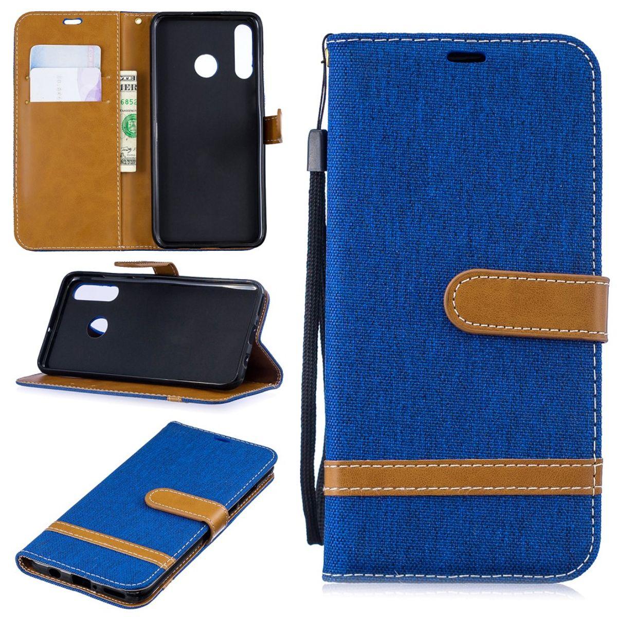 Huawei P30 lite New Edition Handy Hülle Schutz-Tasche Case Cover Kartenfach Etui Wallet Blau
