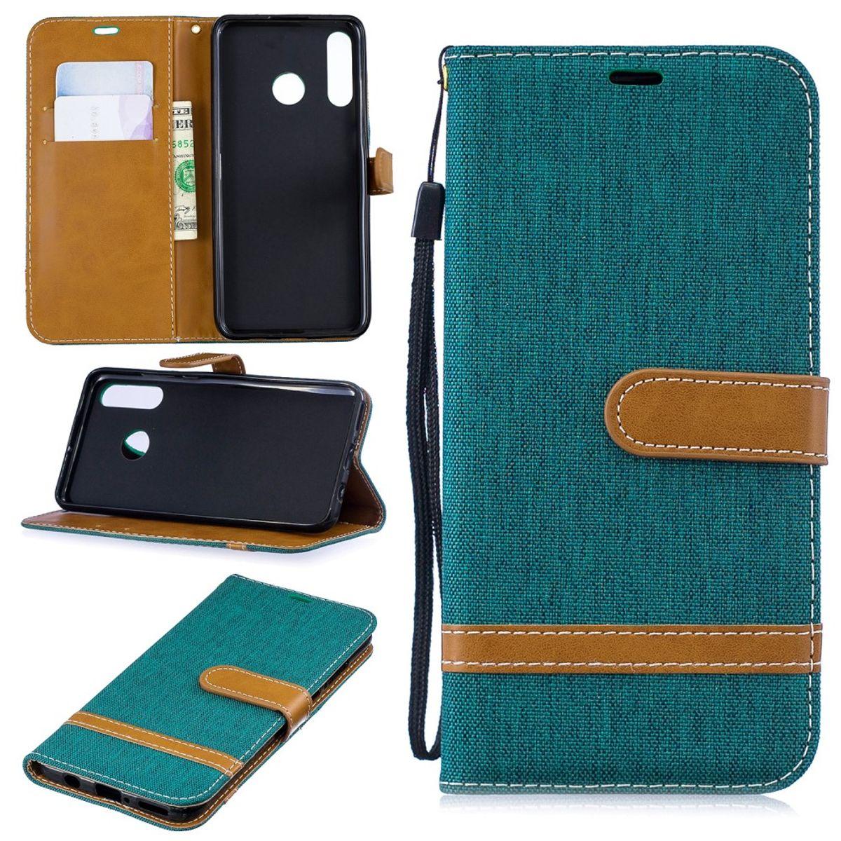 Huawei P30 lite New Edition Handy Hülle Schutz-Tasche Case Cover Kartenfach Etui Wallet Grün
