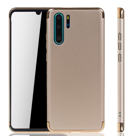 Huawei P30 Pro New Editition Handy Hülle Schutz Case Bumper Hard Cover Gold