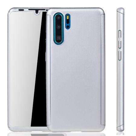 Huawei P30 Pro New Editition Handy-Hülle Schutz-Case Full-Cover Panzer Schutz Glas Silber